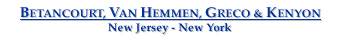 Betancourt, Van Hemmen, Greco & Kenyon - Admiralty Attorneys - New Jersey - New York
